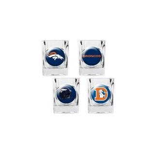 Great American Products Denver Broncos Shot Glass Set 4pc Collectors Shot Glass Set