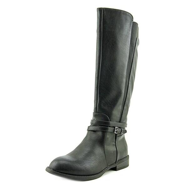 New Directions Womens Mazza Almond Toe Mid-Calf Fashion Boots