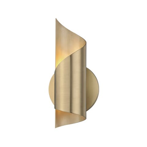 Mitzi by Hudson Valley Evie LED Aged Brass ADA Wall Sconce