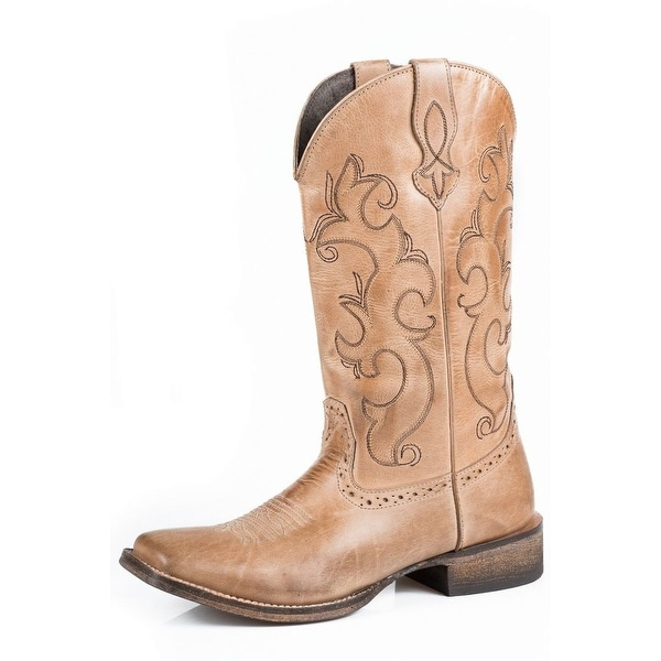 Roper Western Boots Womens Lindsey Leather Tan