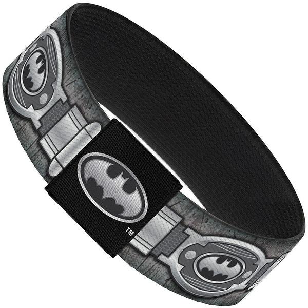 Batman Utility Belt Grays Elastic Bracelet