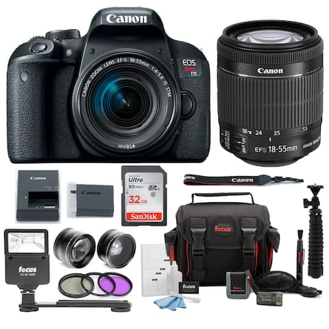 Canon EOS Rebel T7i DSLR Camera with 18-55mm lens and 32GB Accessory Bundle