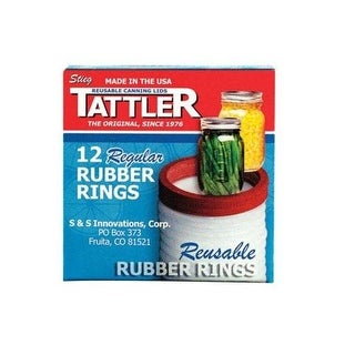 Tattler 1011 Regular Mouth Replacement Rubber Rings, Count of 12