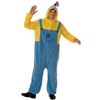 Minions Movie Minion Hooded Jumpsuit Costume Adult - Multi