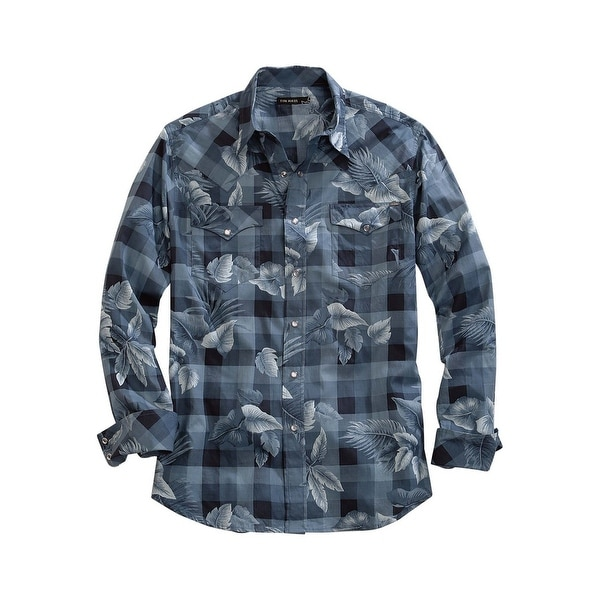 92cce4501 Shop Tin Haul Western Shirt Mens Aloha L S Gray - Free Shipping On Orders  Over  45 - Overstock - 18402864