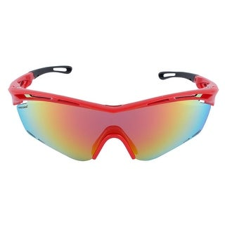 ROBESBON Authorized Unisex Outdoors Polarized Goggles Lens Cycling Glasses Red