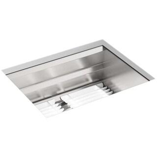 "Kohler K-23650 Prolific 23"" Undermount Single Bowl Stainless Steel Kitchen Sink - STAINLESS STEEL"