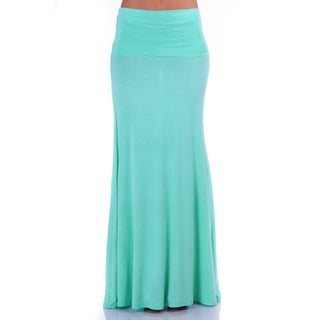 Simply Ravishing Women's Light Weight Stretch Flared Maxi Skirt (More options available)