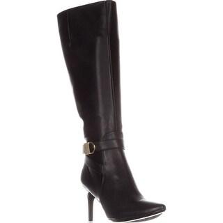 Calvin Klein Jemamine Wide Calf Knee-High Dress Boots, Black