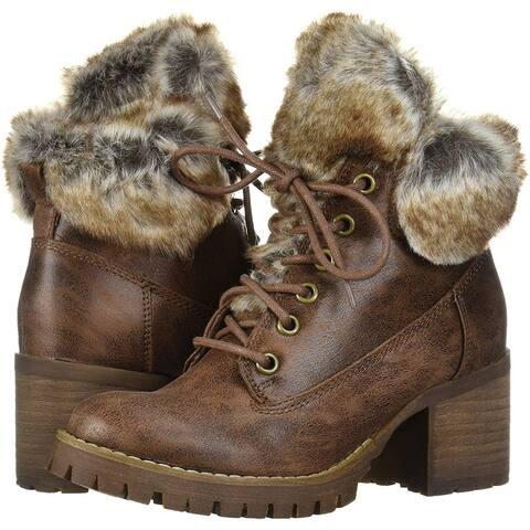 Carlos by Carlos Santana Women's Shoes Gabby Faux Fur Closed Toe Ankle Fashion Boots