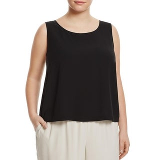 Eileen Fisher Womens Shell Silk Cropped