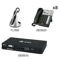 AT&T SB35010 + (8) SB35025 + (1) TL7800 Syn 248 SB35010 W 8 Multi-Line Desksets