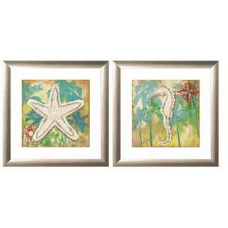 """PTM Images 1-32883 18 Inch x 18 Inch """"Tropical Feel"""" Two Piece Framed Giclee Art Print Encased In Glass - N/A"""