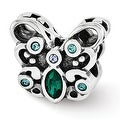 Sterling Silver Reflections Blue/Green Swarovski Elements Butterfly Bead (4mm Diameter Hole) - Thumbnail 0