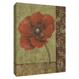 """PTM Images 9-154643  PTM Canvas Collection 10"""" x 8"""" - """"Rust Applique I"""" Giclee Flowers Art Print on Canvas"""