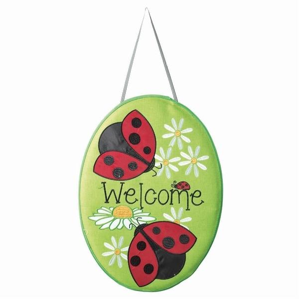 "18"" Ladybug ""Welcome"" Door Banner - other-frame-size"