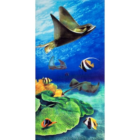 Stingray 30x60 Brazilian Velour Beach Towel