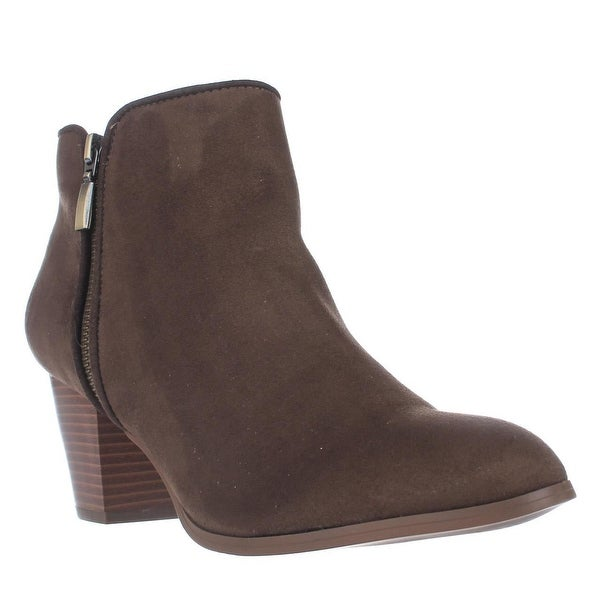 SC35 Jamila Dress Ankle Booties, Dark Olive
