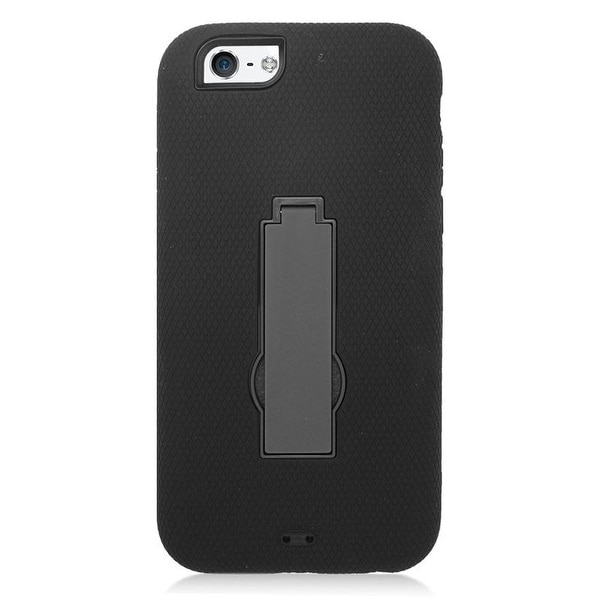 Insten Symbiosis Dual Layer Hybrid Stand Rubber Silicone/ PC Case Cover For Apple iPhone 6/ 6s