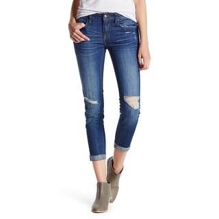 Vigoss NEW Blue Women's Size 26X27 Chelsea Slim Skinny Distressed Jeans