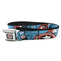 Captain America Seatbelt Belt-Holds Pants Up