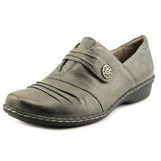 Naturalizer Response Women W Round Toe Leather Gray Loafer