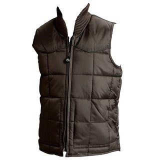 Roper Western Vest Boys Kids Outerwear Zip Brown 03-397-0763-0780 BR
