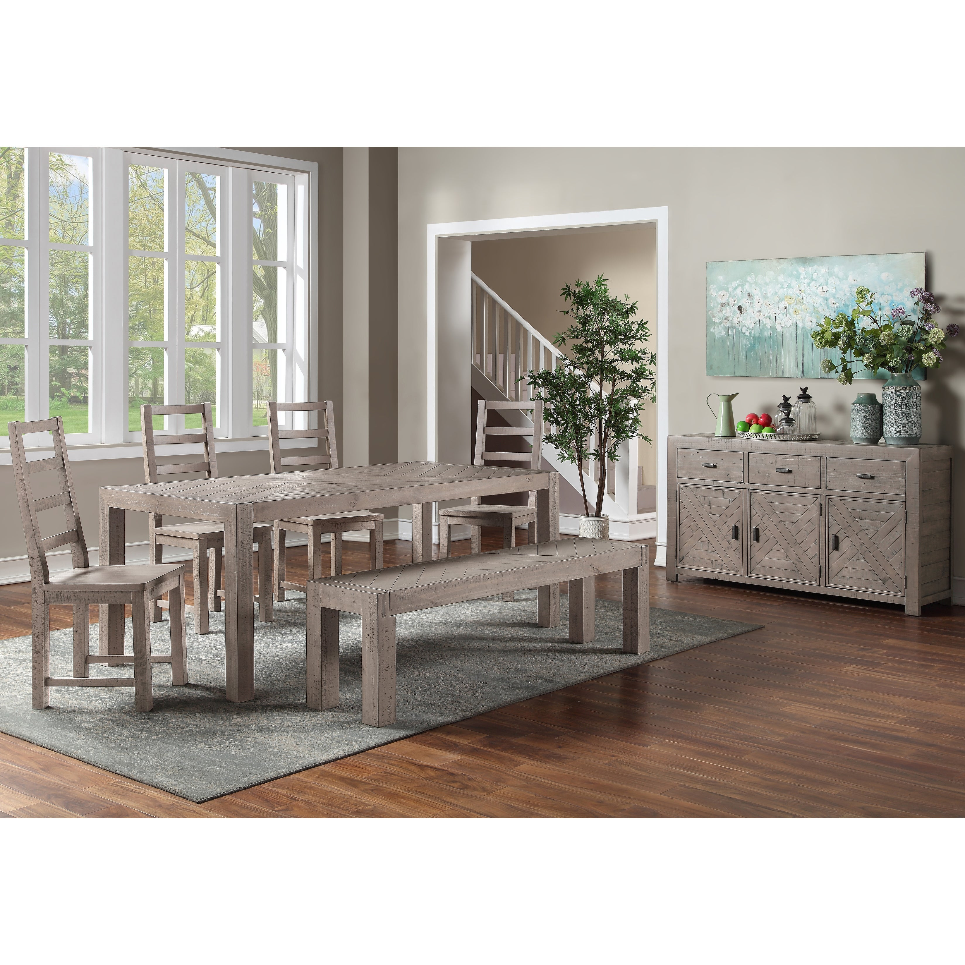 The Gray Barn Aubree Reclaimed 7 Piece Dining Set Overstock 32523566