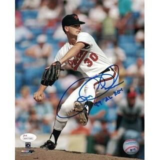 Gregg Olson Autographed Baltimore Orioles 8x10 Photo 89 AL ROY JSA