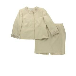 Tahari ASL Womens Pearl 2PC Skirt Suit - 16