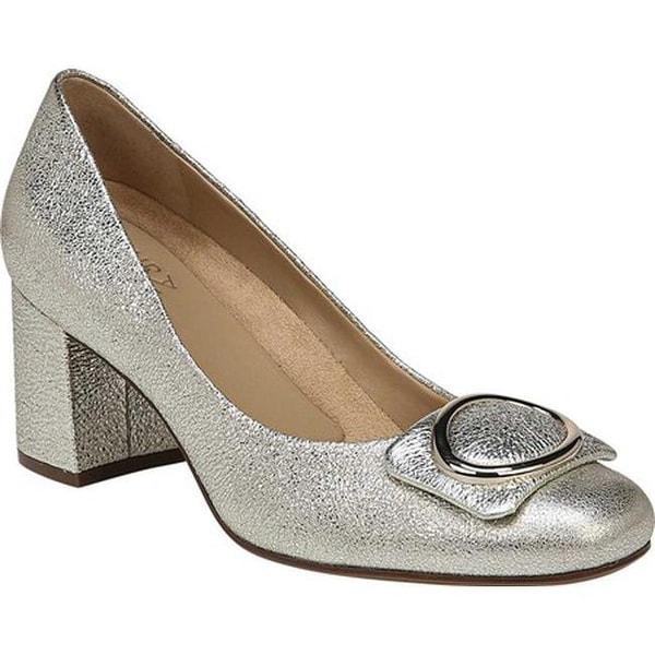 d6f46969c85 Shop Naturalizer Women's Wright Block Heel Pump Platina Leather ...
