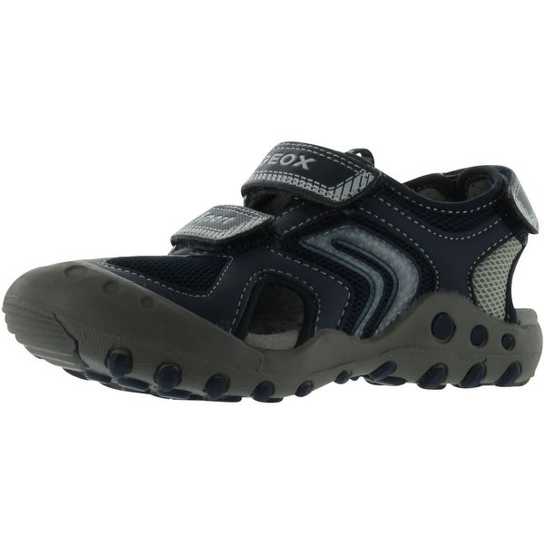Geox Boys' Kyle B Closed Toe Sandal - Navy/Silver