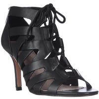 Pour La Victoire Camila Lace-Up Gladiator Sandals, Black Leather - 5.5 us