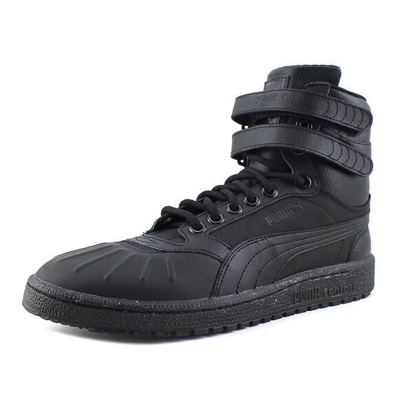 0f5a5455260e Shop Puma Sky II Hi Duck Men Round Toe Leather Black Basketball Shoe ...