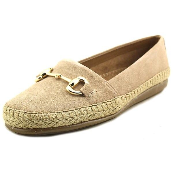 Aerosoles Solution Women Round Toe Suede Tan Loafer