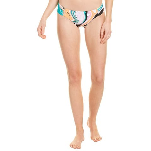Trina Turk Nazare Shirred Side Bikini Bottom