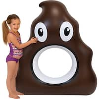 Inflatable 4.5 ft. Poop Emoji Pool Float - Multi
