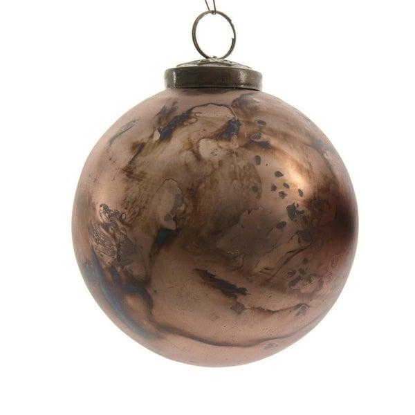 "Luxury Lodge Matte Antique Bronze Glass Christmas Ball Ornament 2.75"" (70mm)"