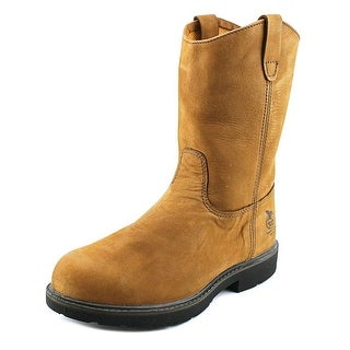 "Georgia Boot 11"" Wellington Pull On Men  Round Toe Leather  Work Boot"