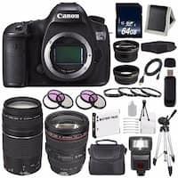 Canon EOS 5DS R DSLR Camera (International Model) 0582C002 + EF 24-105mm f/4L IS USM Lens + 64GB SDXC Card Bundle