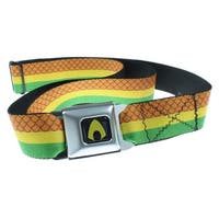 Aquaman Rasta Seatbelt Belt-Holds Pants Up