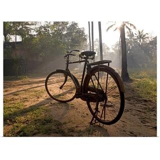"""""""Bicycle, Kerala, India"""" Poster Print"""