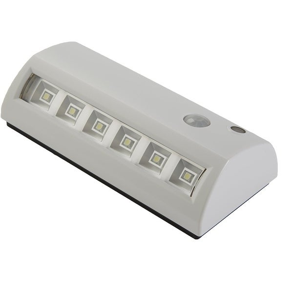 Fulcrum 20032-308 6-LED Motion Sensor Wireless Weatherproof Light, White