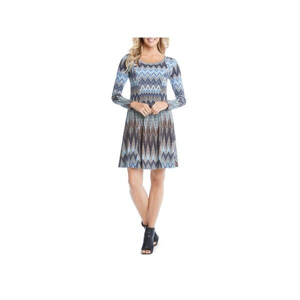 cf0029b276 Karen Kane Womens Zig Zag Dress Casual Dress Printed Fit  amp  Flare - l