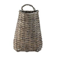 """Pack of 6 Country Rustic Brown Willow Woven Decorative Hanging Baskets 13.5"""""""