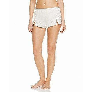 Josie Natori NEW White Womens Size Small S Lace Mini Short Shorts