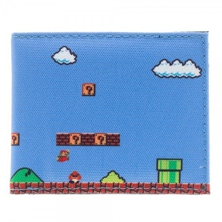 Nintendo Super Mario 8-Bit Level Sublimated Bi-Fold Wallet