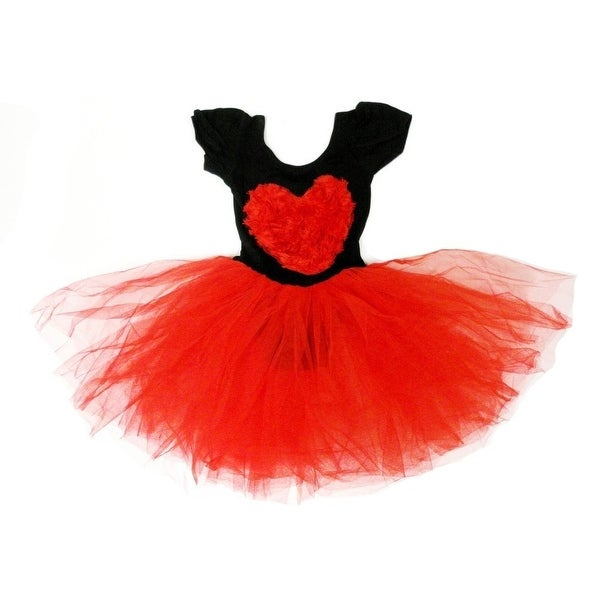 Black Red Heart Tutu Ballet Dress Girls S