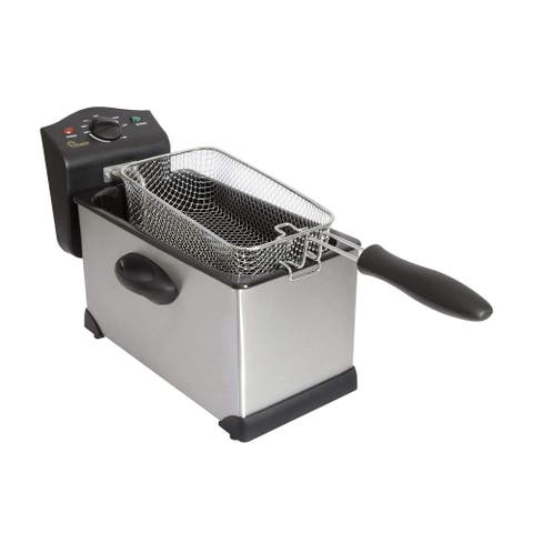 Chard DF-3E Electric Deep Fryer, 3 Liter, Stainless Steel