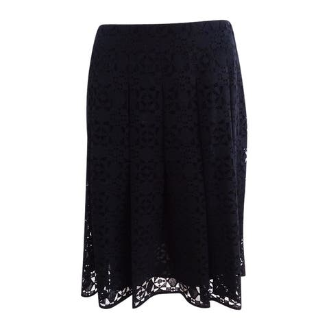 Tommy Hilfiger Women's Lace Skirt - Black